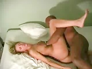 a cuckold spouse films his golden-haired wife