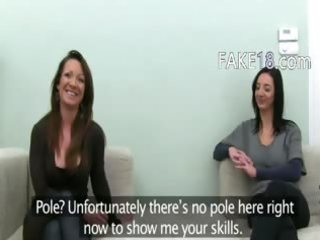 fake job suggest as a honeys in porn movie scene