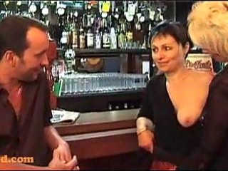 some with aged women in a bar