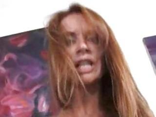 redhead cougar rides darksome