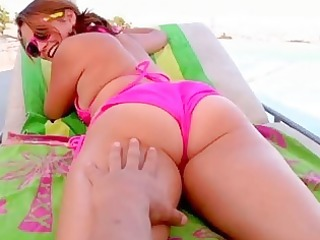 large butt youthful cutie penis riding outdoors
