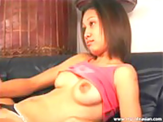 hot oriental solo sex-toy insertion