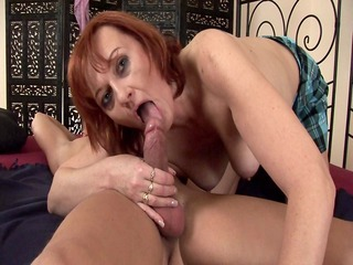 redhead helga receives her aged cookie stretched