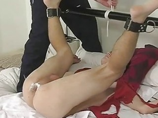 perverted homo mate acquires his balls hairless