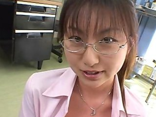 Japanese office secretary bukkake