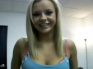 blond bombshell bree olson gives a close up of