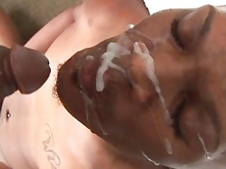 abundant cum on face after unfathomable anal fuck