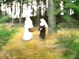 immodest nuns sharing ramrod outdoor