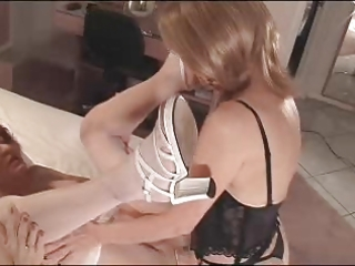 sissy taking a big fake penis