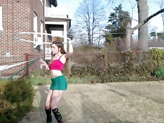 bottomless outdoor hoola hoop busted (no sound)