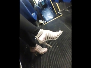 fuckable feet on the bus to work. vid 2