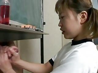 japanese schoolgirl cook jerking