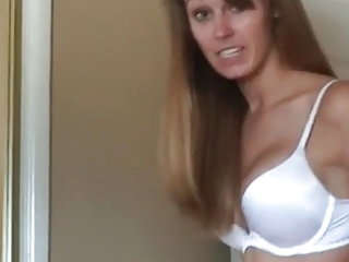 girlfriend in underclothes