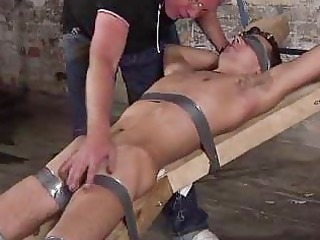 old fetish guy punishing a bigcock bondman lad