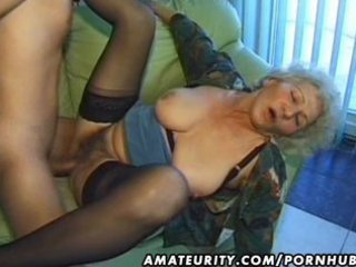 old non-professional older wife sucks and