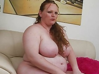 pale massive redhead momma uses her recent sex