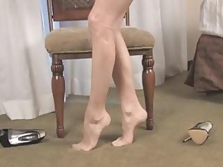 astonishing nylon feet