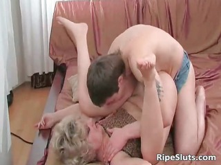 lewd aged whore acquires soaked cum-hole