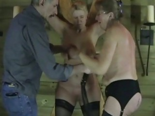 older dilettante slaves in raunchy torment