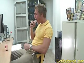 muscled blonde sucks and bonks homosexual porn
