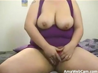 big beautiful woman riding toy for webcam