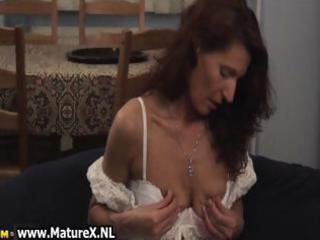 concupiscent aged woman squeezes part8